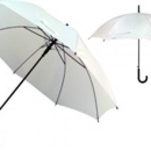 מטריה לבנה עם מיתוג צבעוני