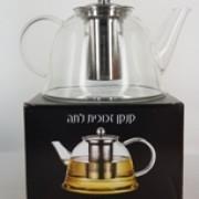 קנקן תה זכוכית מעוצב