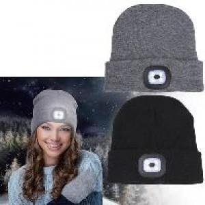 כובע גרב עם פנס מובנה